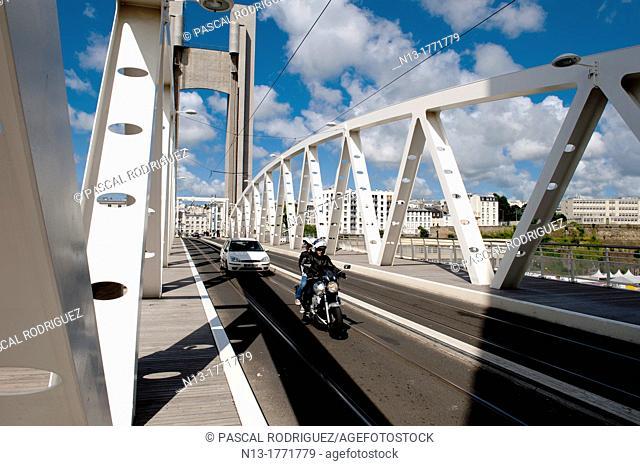 The recouvrance bridge Brest, France