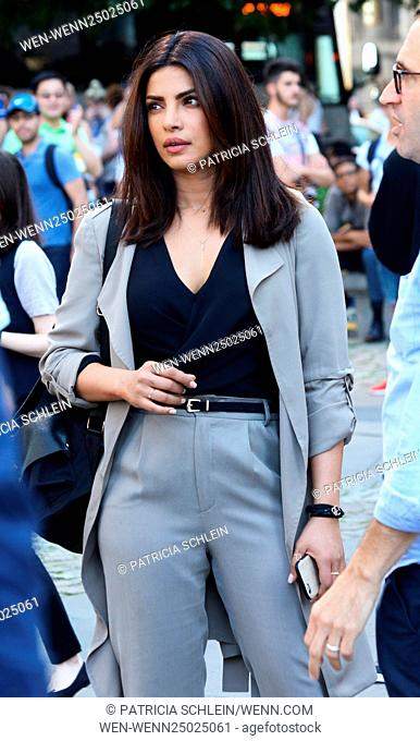 On the set of 'Quantico' with Priyanka Chopra filming in New York City Featuring: Priyanka Chopra Where: NYC, New York, United States When: 13 Jul 2016 Credit:...