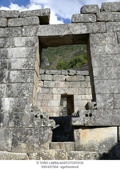Temple of the Sun. Machu Picchu, Peru