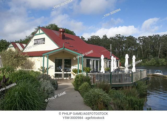 Boathouse Cafe on Lake Daylesford. Daylesford is a mineral spa town in the Central Highlands of Victoria, Australia