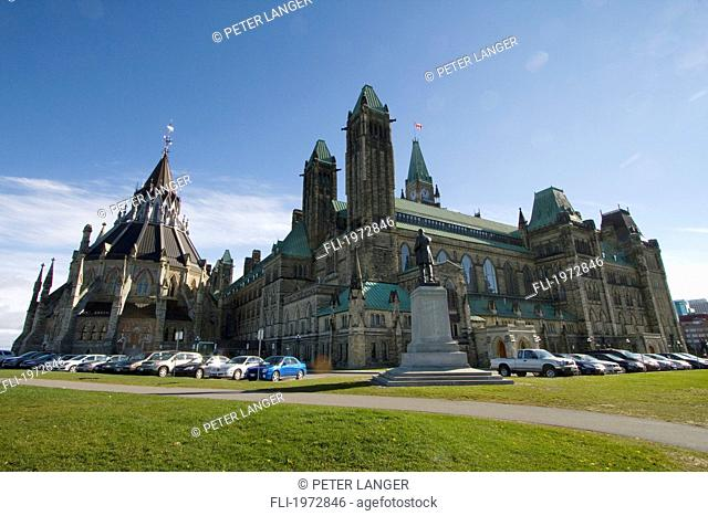 Centre Block Of The Parliament Buildings, Ottawa, Ontario, Canada