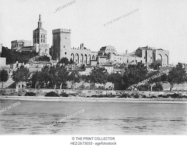 'Avignon. - The Rhone and Popes Palace', c1925. Artist: Unknown