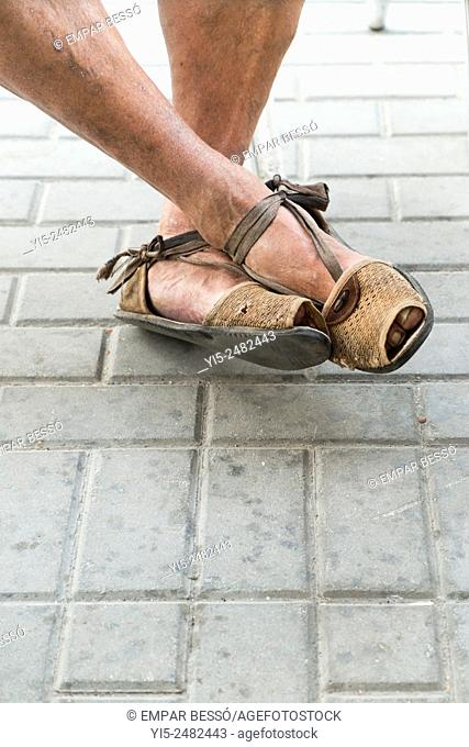 Espadrilles. Typical valencian footwear. Valencia. Spain