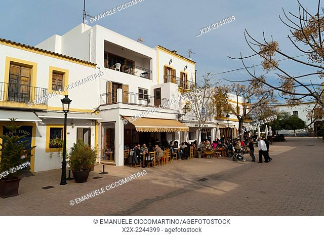 Bar in Santa Gertrudis, Ibiza, Balearic Islands, Spain, Mediterranean, Europe