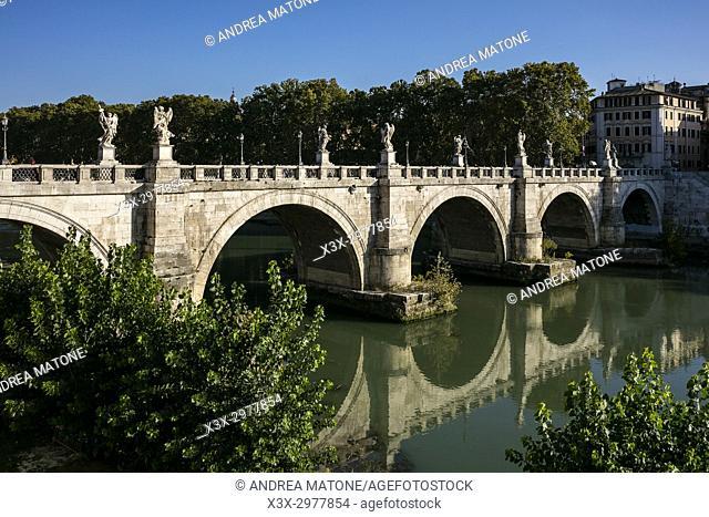 Ponte Castel Sant'Angelo bridge. Rome, Italy