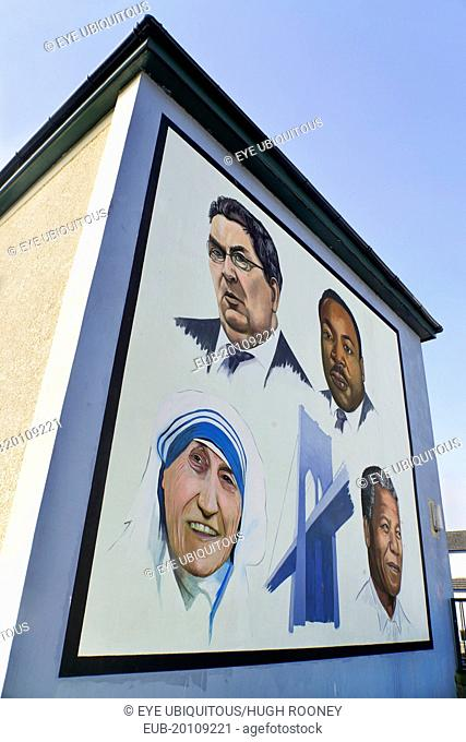The People's Gallery series of murals in the Bogside, Mural known as A Tribute to John Hume
