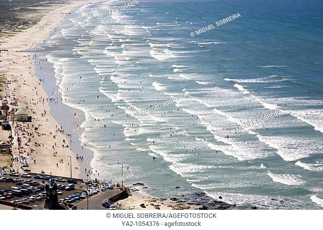 Aerial shot of Muizenberg Beach - Cape Town