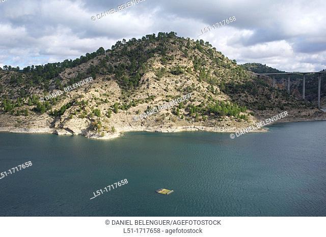 Contreras reservoir between Valencia and Cuenca, Cuenca, Spain