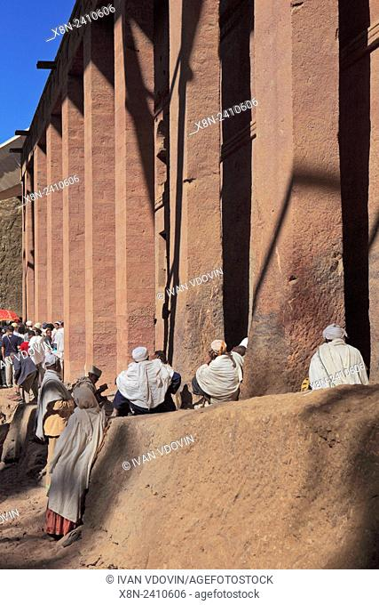 Bet Medhane Alem cathedral, Lalibela, Amhara region, Ethiopia