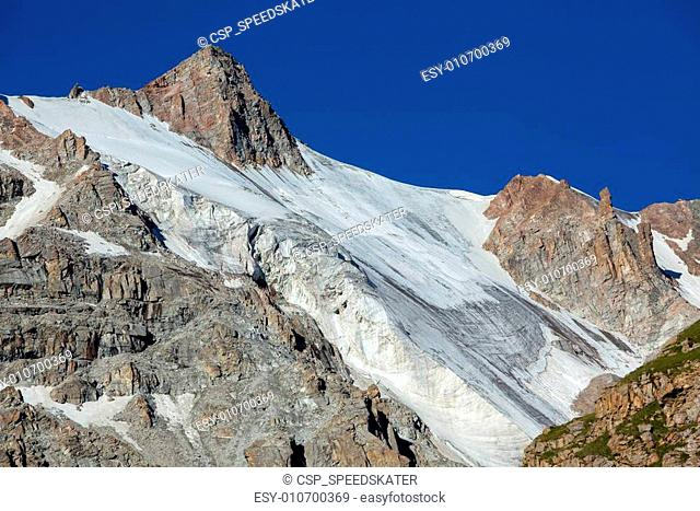 Mountain with ice slope. Tien Shan