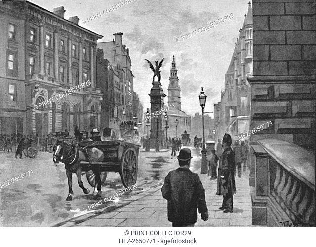 'Fleet Street, Showing Temple Bar Memorial and Child's Bank', 1891. Artist: William Luker