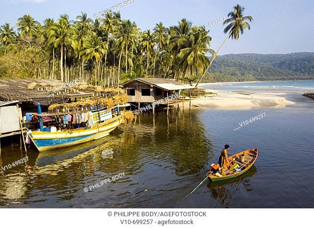 Village of Ao Phrao, Island of Ko Kood, Thailand