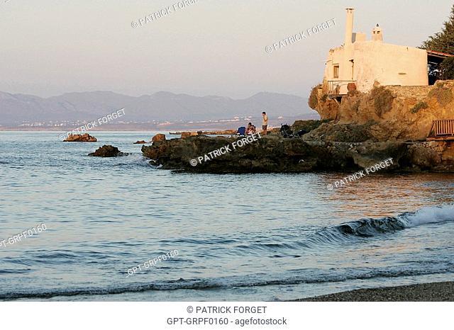 AGIA MARINA BEACH NEAR CHANIA, CRETE, GREECE