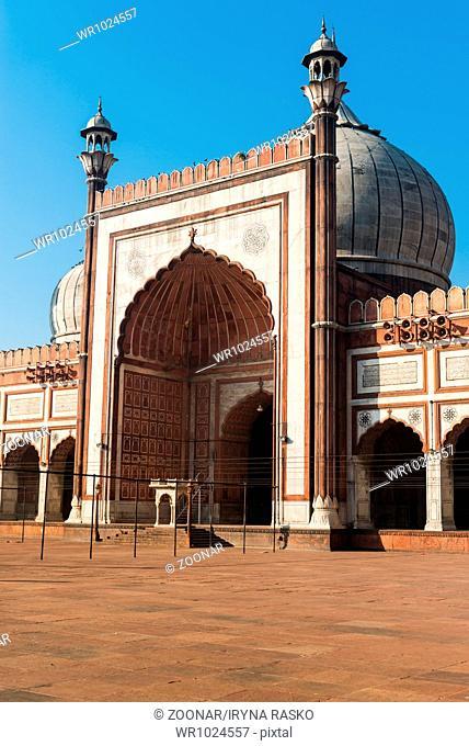 Entrance Jama Masjid Mosque, Old Dehli, India