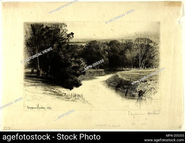 A Sunset in Ireland - 1863 - Francis Seymour Haden English, 1818-1910 - Artist: Francis Seymour Haden, Origin: England, Date: 1863