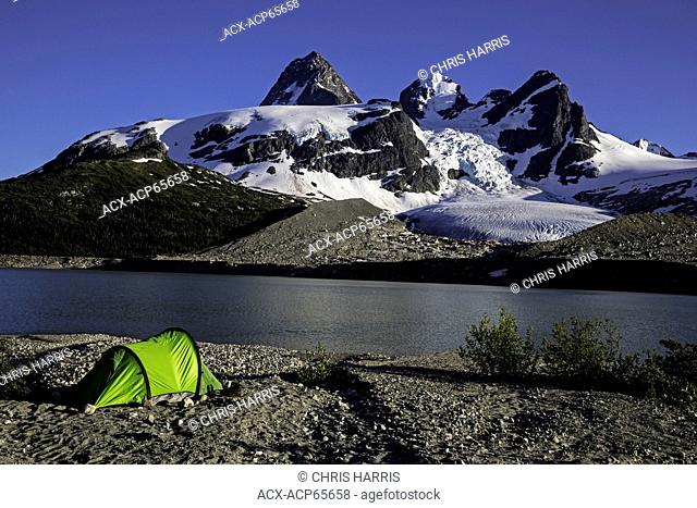 Camping on Ape Lake, Chilcotin, Coast Mountains, British Columbia, Canada