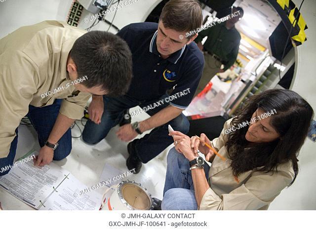 NASA astronaut Sunita Williams, Expedition 32 flight engineer and Expedition 33 commander; Japan Aerospace Exploration Agency (JAXA) astronaut Akihiko Hoshide...