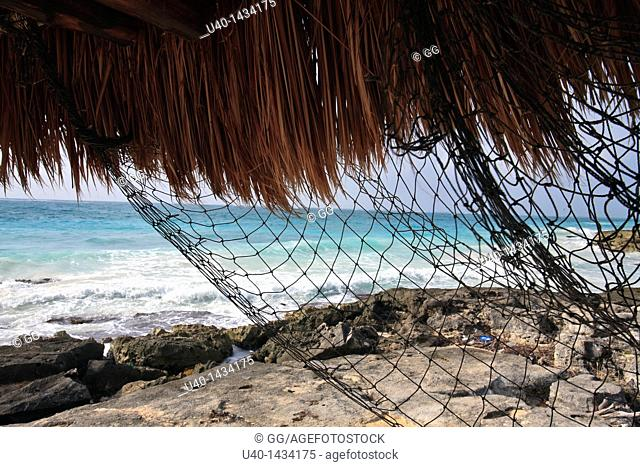 Mexico, Tulum, view of the Caribbean Sea