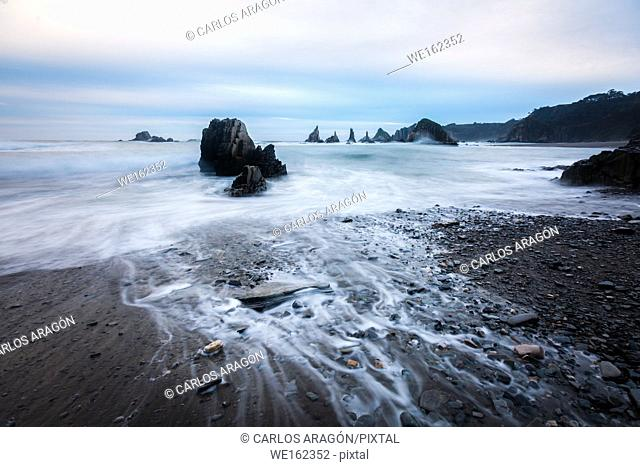 Gueirua beach, Asturias, Spain