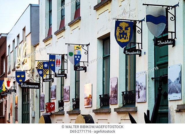 Belgium, Antwerp-area, Lillo, final village left in the Antwerp Port area, the Poldermuseum, exterior