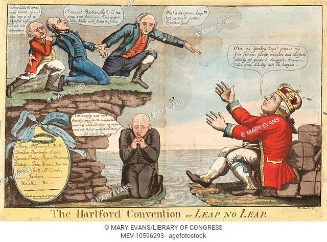 The Hartford Convention or Leap no leap. Charles's satire attacks the Hartford Convention, a series of secret meetings of New England Federalists held in...