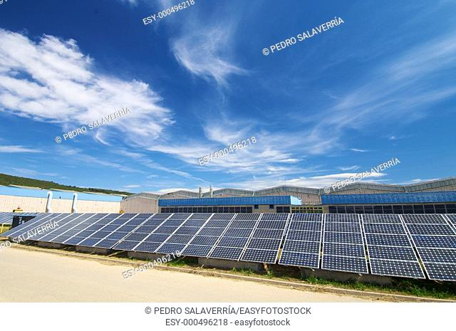 Photovoltaic panels in a industrial plant