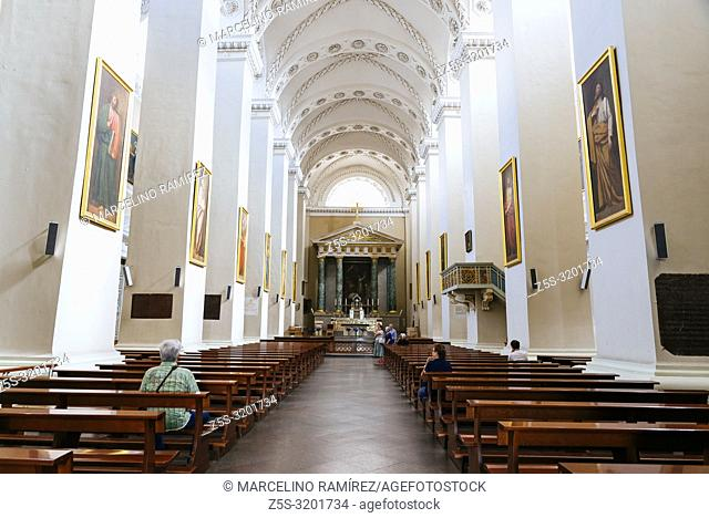 Nave and ceiling, Cathedral Basilica of St Stanislaus and St Ladislaus of Vilnius is the main Roman Catholic Cathedral of Lithuania
