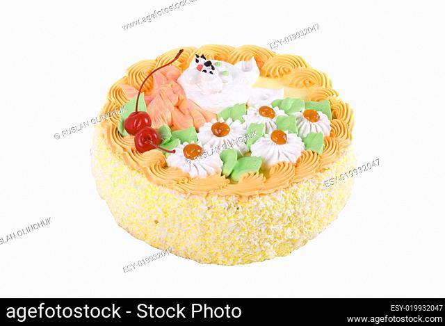 cream cherry cake