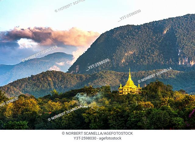 Asia. South-East Asia. Laos. Province of Luang Prabang, city of Luang Prabang, World heritage of UNESCO since 1995. Wat Phone Phao