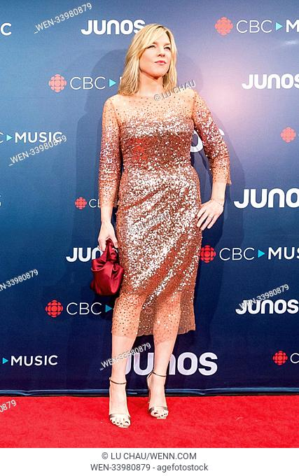 2018 JUNO Awards, held at the Rogers Arena in Vancouver, Canada. Featuring: Diana Krall Where: Vancouver, British Columbia