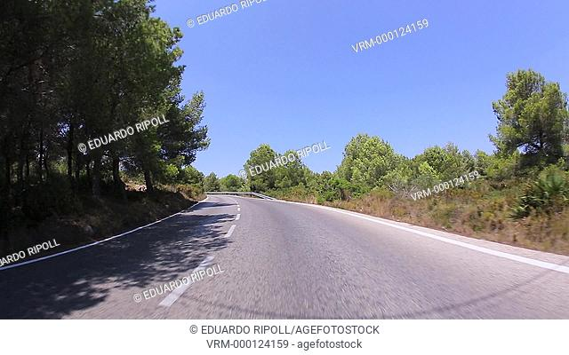 Mountain road at San Antonio's Cape In Denia Alicante