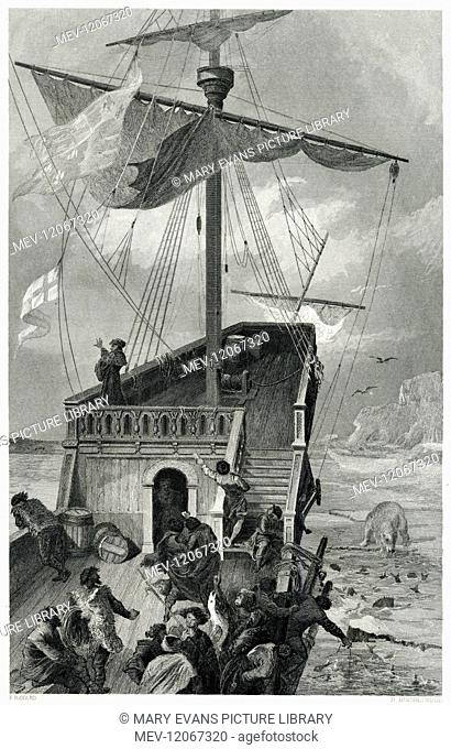 Sebastian Cabot, a Venetian explorer, sets sail from Labrador in Northern Canada. Sailing through sheets of ice, various sailors on board fish over the side of...