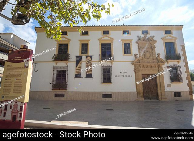 Lorca Murcia Spain on September 6, 2020 historic old city in summer the archeological museum