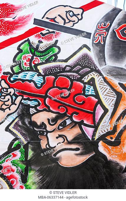Japan, Hoshu, Tokyo, Asakusa, Nebuta Festival, Float with depictions of Warrior Figures