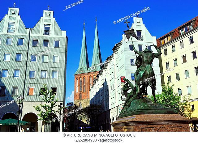 The Nikolaiviertel -Nicholas' Quarter-. Berlin, Germany