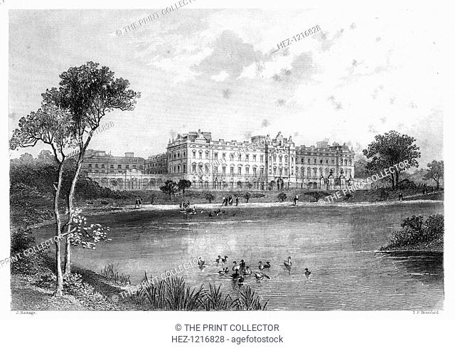 Buckingham Palace, London, 1899. An engraving from James Taylor's The Victorian Empire, William Mackenzie, London, 1899