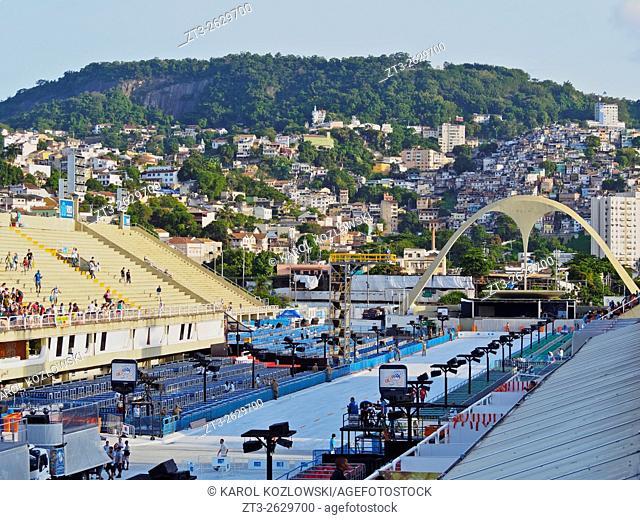 Brazil, State of Rio de Janeiro, City of Rio de Janeiro, View of The Sambadrome Marques de Sapucai.