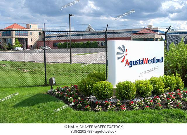Near entrance of Agusta Westland Philadelphia corporation, Philadelphia, PA, USA, North America