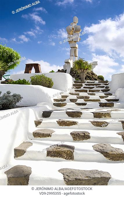Exterior view. Casa Museo del Campesino, monument to the Farmer. created by César Manrique. San Bartolome. Lanzarote Island, Canary islands, Spain, Europe