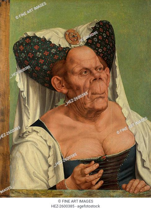 An Old Woman (The Ugly Duchess), c. 1513. Found in the collection of the National Gallery, London