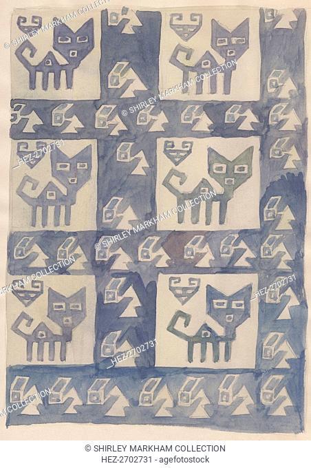 South American textile design, 1951. Creator: Shirley Markham