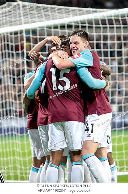 2017 Carabao Cup 3rd Round West Ham v Bolton Sep 19th. 19th September 2017, Olympic Stadium, London, England; Carabao Cup 3rd round