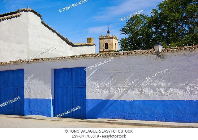 El Toboso village of don quijote Dulcinea in toledo of La Mancha Spain