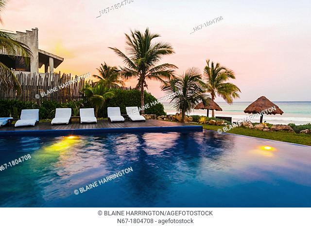 Sunset, Le Reve Hotel, Riviera Maya, Quintana Roo, Mexico