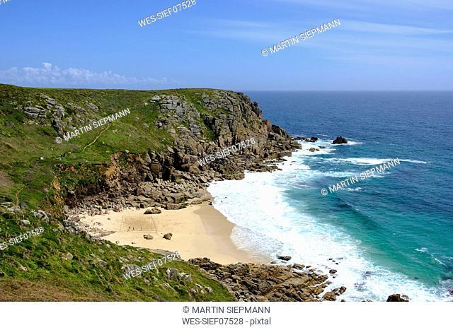 UK, Cornwall, Porthchapel Beach near Porthcurno