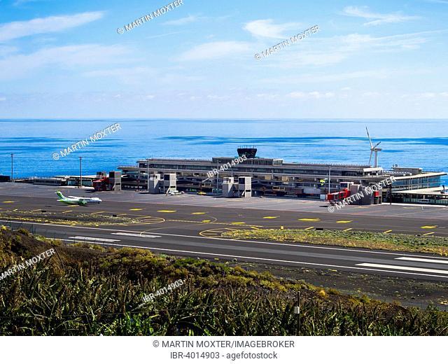 The airport of La Palma, Lodero, Punta de las Lajas La Palma, Canary Islands, Spain
