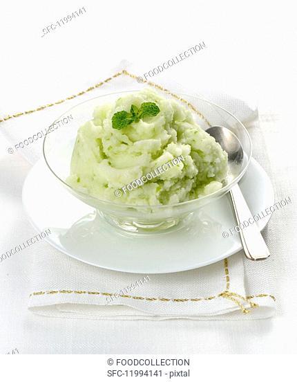 Celery sorbet