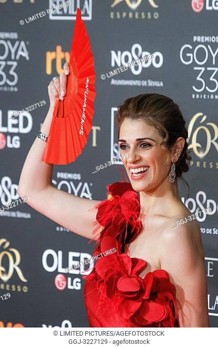 Ruth Gabriel attends the Spanish Cinema awards Goya 33rd edition at FIBE attends 33rd Goya Cinema Awards 2019 at Palacio de Congresos y Exposiciones FIBES on...