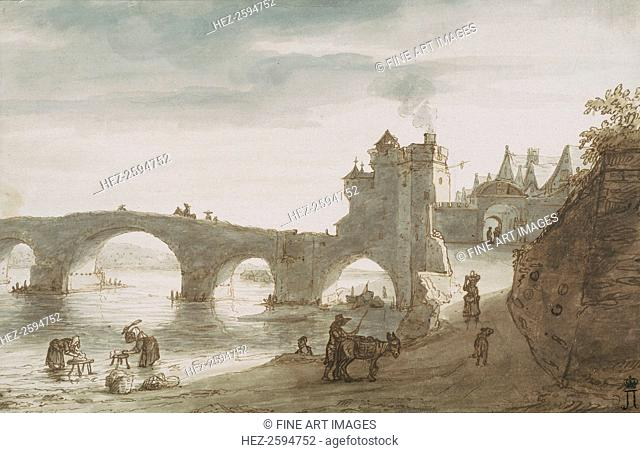 Bridge Across the Loire at Amboise, 1640s. Found in the collection of the State Hermitage, St. Petersburg
