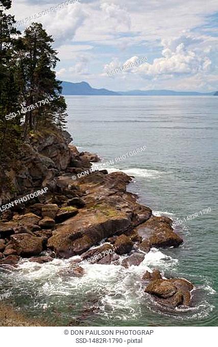 USA, Washington, San Juan Islands, Sucia Island